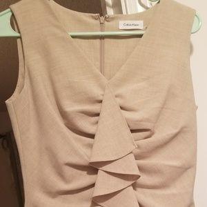 Short beige ruffle dress